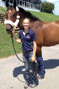 Becca Hart with Lord Ludger. Courtesy Becca Hart