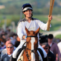 Zara Phillips and Toytown at Cheltenham Racecourse with Olympic torch on May 25, 2012
