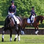 Nicola Wilson and Piggy French in dressage warmup