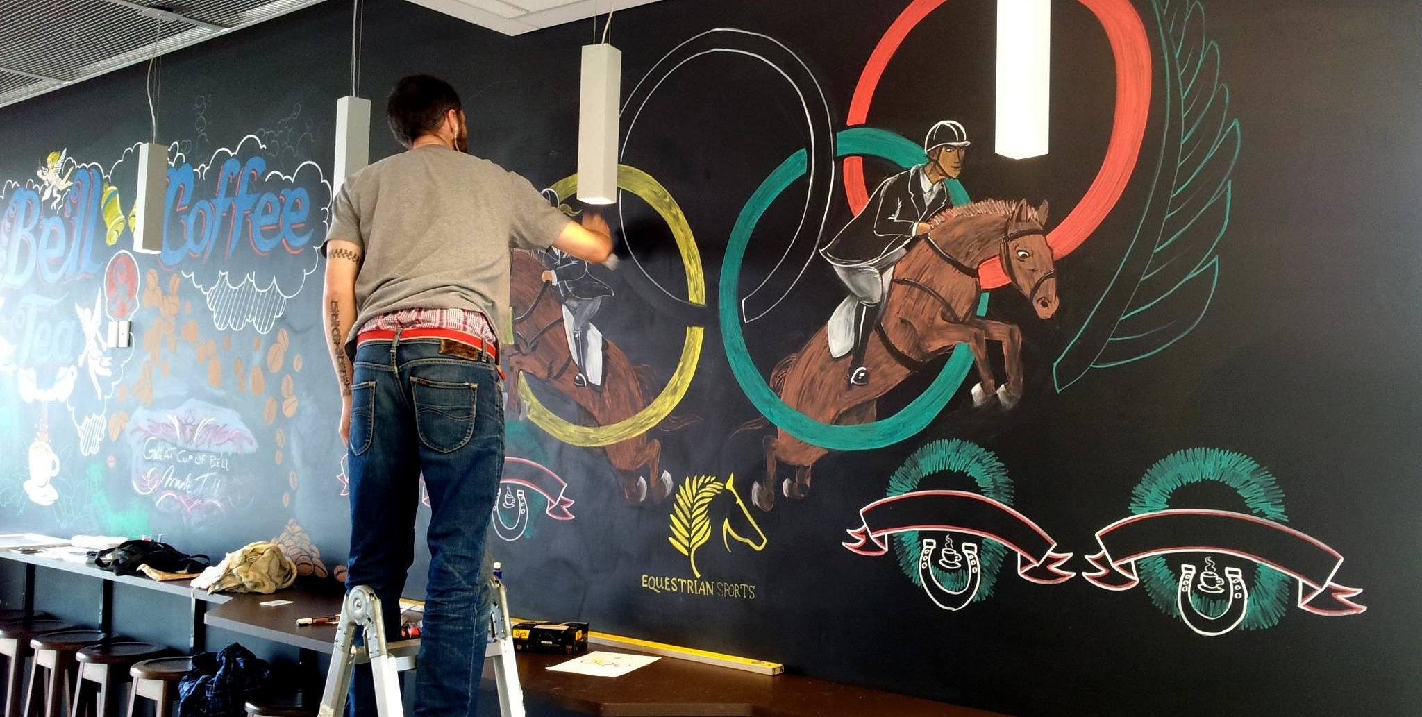 Bell Tea headquarters London Olympics mural