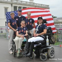 USA Team 2012 (Left to Right, top to bottom) Chef d&#039;Equipe Missy Ransehousen, Jon Wentz, Rebecca Hart, Dale Dedrick and Donna Ponessa. &amp;copy: Lindsay Yosay McCall
