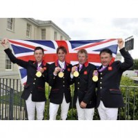 Scott Brash, Ben Maher, Nick Skelton, Peter Charles win Team Gold for Great Britain. Photo Kit Houghton/FEI