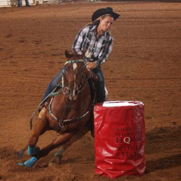 Barrel Racing. Courtesy AQHA