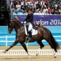 Charlotte Dujardin of Great Britain got a standing ovation from the heavily partisan crowd after her fabulous ride on Valegro. © Nancy Jaffer