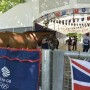 Heading into the Team GB stables at Greenwich. Photo Kit Houghton/FEI