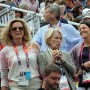 Rafalca's owners, Ann Romney, Beth Meyer and Amy Ebeling were thrilled as they watched their horse from the stands. © Nancy Jaffer