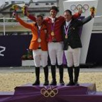 Individual Jumping Olympic Winners: Gerco Schroder, Steve Guerdat, Cian O'Connor. Photo Kit Houghton/FEI