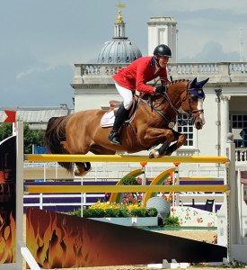 Rich Fellers and Flexible turned in the only double-clear for the U.S. team at the Olympics. © Nancy Jaffer