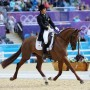 Yoshiaki Oiwas leads after the dressage phase of eventing. Photo Kit Houghton/FEI